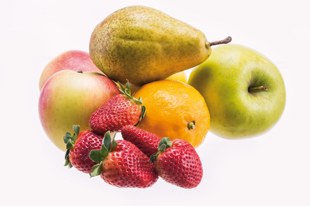 Fresh Fruit on a white background 写真素材