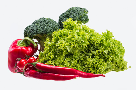 Vegetables on a white background 写真素材
