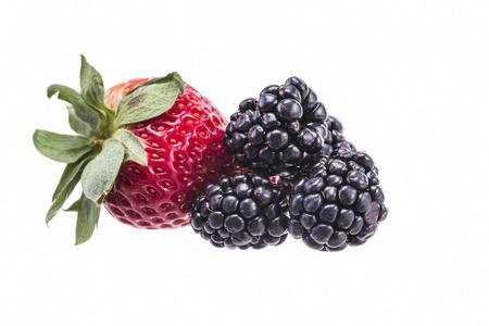 dewberry and strawberry 写真素材