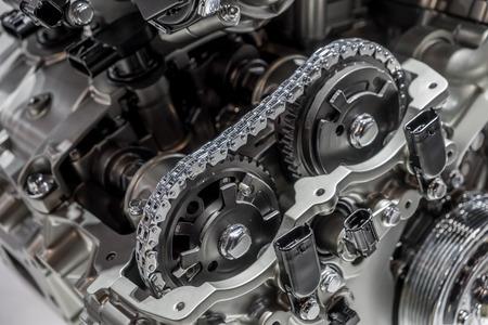 Car engine camshaft cutaway Foto de archivo
