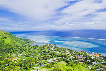 Moorea island in the French Polynesia. Stock Photo