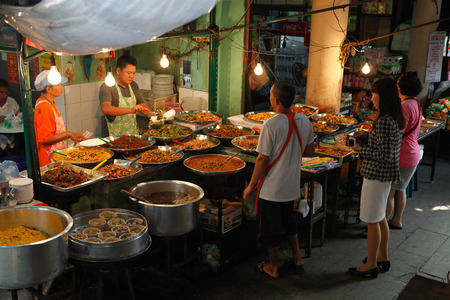 Outdoors eatery in Bangkok, Thailand
