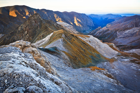 mountain ranges: mountain ranges in the evening Stock Photo