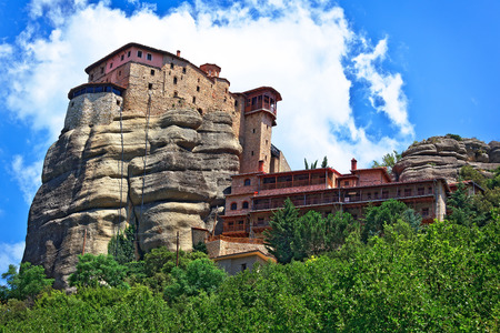 singular architecture: The Holy Monastery of St. Nicholas Anapausas, built in the 16th century. Included in the complex of Greek Orthodox monasteries Meteora. Kalambaka, Greece