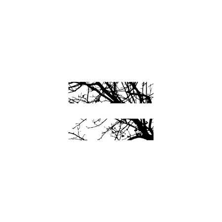 Symbol = double exposure with black trees isolated on white background.Vector  illustration.Black and white double exposure silhuette numbers combined with photograph of nature.Letters of the alphabet Banco de Imagens - 51088430