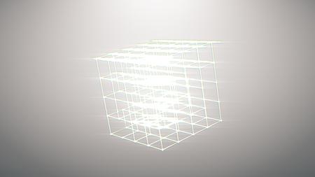 Retro futuristic background 1980s style. Digital landscape in a cyber world. Retro Wave music album cover template with rainbow light Banco de Imagens - 105102644