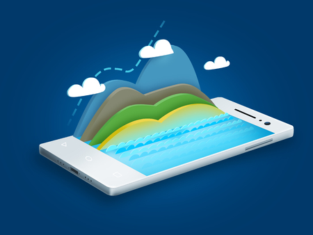 white smartphone and diagram