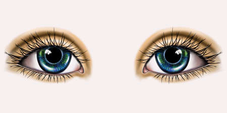 color drawing of two human eyes Standard-Bild