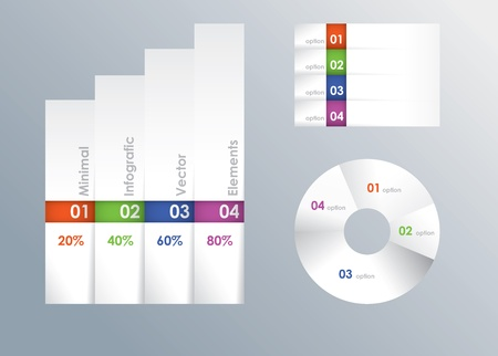 sector: Modern minimal vector infografic template  Banner and sector diagram