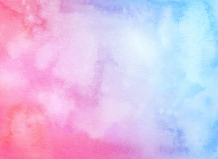 Watercolor hand drawn abstract horizontal background with strains. Blue-purple gradient watercolor fill. Stock Photo