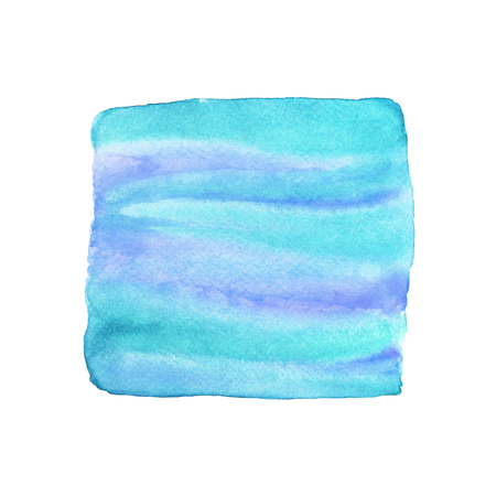 Abstract blue watercolor square background