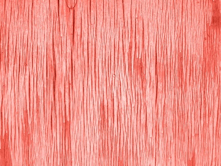 Wooden aged surface. Living Coral color of the year 2019 Stok Fotoğraf