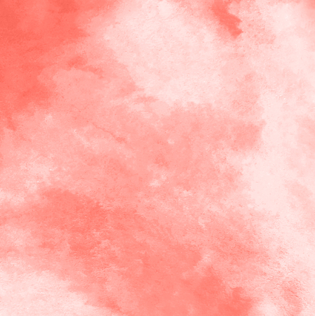 Abstract watercolor fill with stains for background. Living Coral trendy color of the year 2019.  Stok Fotoğraf