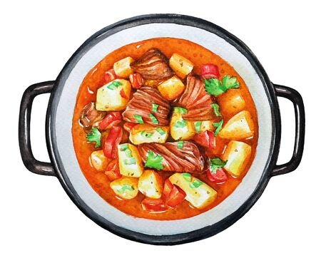 Goulash, beef stew with vegetables.