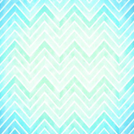 Blue green watercolor zigzags