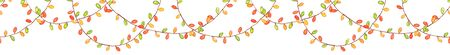 Seamless pattern with watercolor garland for christmas, new year and other holidays design.