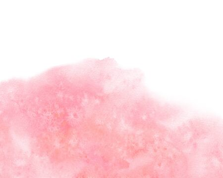 Watercolor artistic abstract pink brush stroke isolated on white background.