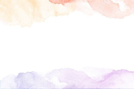 Watercolor desighn with abstract artistic brush strokes isolated on white background.