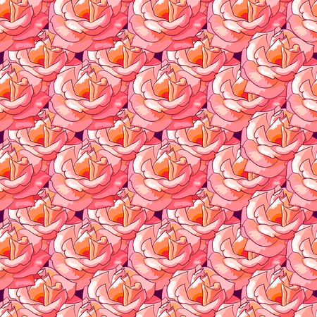 gift wrapping: Solid seamless pattern of beautiful roses.Vector illustration.Floral background for Wallpaper, gift wrapping,cards,scrapbooking,web.