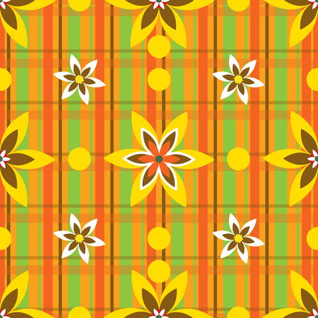 gift packaging: Bright vector illustration with flowers and stripes. Suitable for childrens Wallpapers, fabrics, gift packaging.