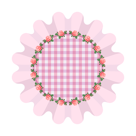 ruffles: Pink napkin with ruffles in the style of shabby chic