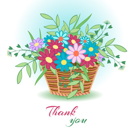 Basket with flowers23