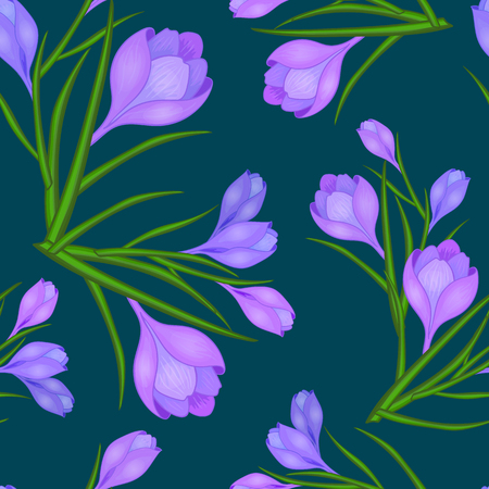 pattern with crocuses