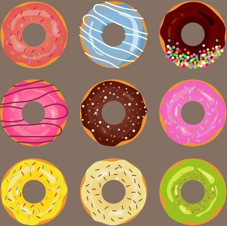 poster or postcard design, template for dessert menu in cafe.Vector eps10.