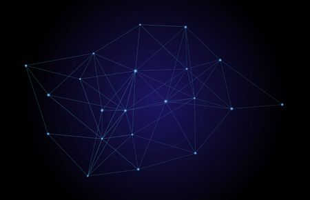 Vector abstract circuit networking blockchain concept technology background, big data