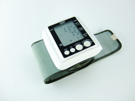 blood pressure monitor: Electronic Blood Pressure Monitor Stock Photo