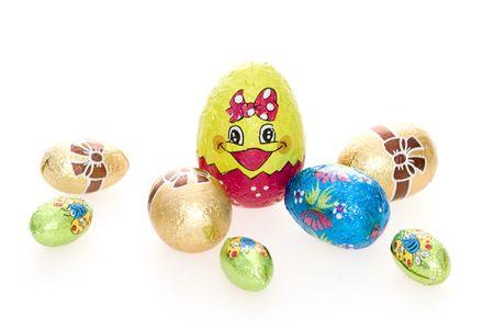 Huevos de Pascua adornados Foto de archivo - 831896