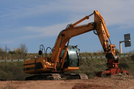 lb: Excavator with operating weight of 35 000 lb  16 00 kg Stock Photo