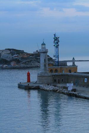 The Lighthouse on the coast of the sea photo