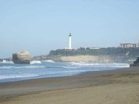 The Lighthouse on the coast of the ocean   photo