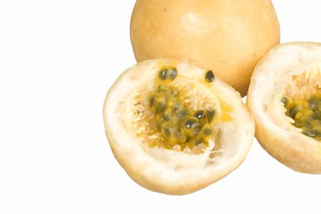 Passion-Fruit on the white Stock Photo - 1283489