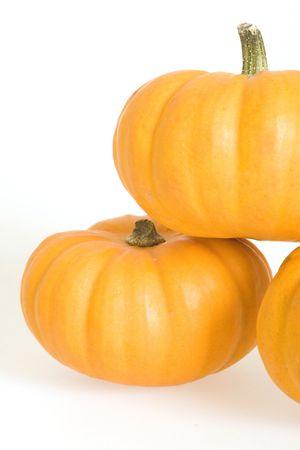 Orange Pumpkins Isolated on White Backgroundnn photo