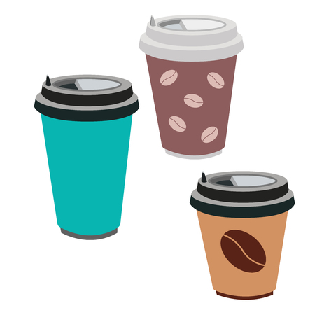 A Vector illustration of a coffee Cup isolated on white background. Ilustrace