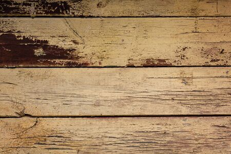 Old wooden planks with peeling paint. Texture, background
