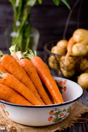 edibles: carrots in a bowl