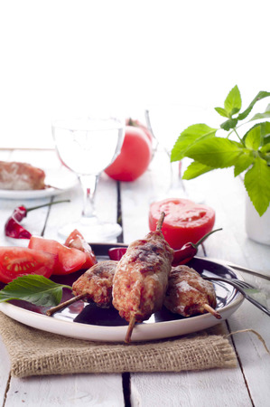 seekh: Minced lamb kebab with vegetables and wine