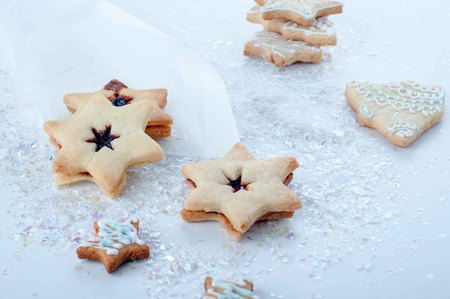 galletas de navidad: homemade delicious christmas gingerbread cookies - sweet food