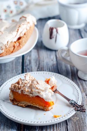 selective focus: Homemade Delicious Pumpkin Pie made for Thanksgiving