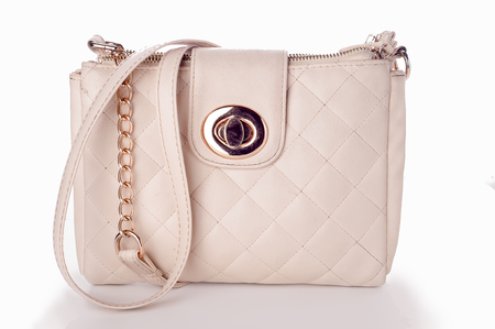 quilted: Luxury women quilted bag isolated on bacgraund