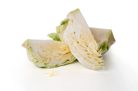 cabbage on a white background and isolated