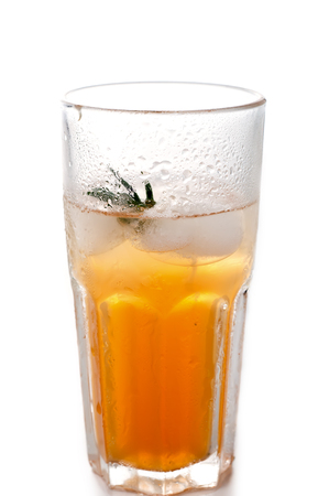 clarified: apple or grape clarified juice in glass isolated with clipping path included