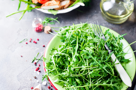 dishtowel: fresh arugula salad