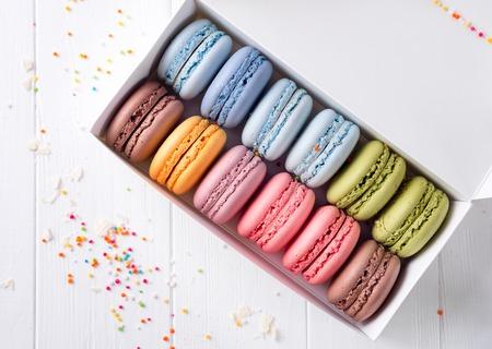 rotates: Colorful macaroons. Sweet macarons.