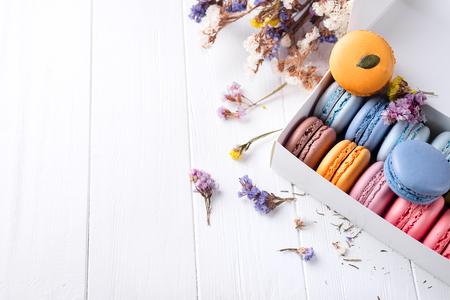 French colorful macarons Standard-Bild