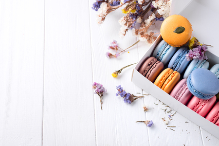 French colorful macarons Stock Photo - 76258435