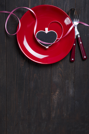 Valentines Day heart on a plate
